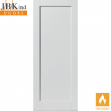 Internal White Primed ANTIGUA Shaker 1 Panel Fire Door FD30