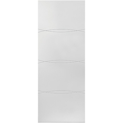 JB Kind Internal White Primed ASTER Feature Grooved Flush Door