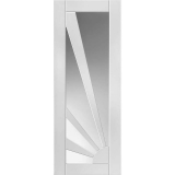 Internal White Primed AURORA Retro Sunshine Design Clear Glazed Door