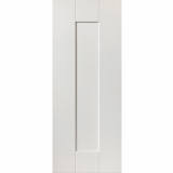 JB Kind Internal White Primed AXIS Shaker 1 Panel Fire Door FD30