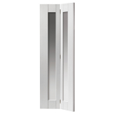 JB Kind Internal White Primed AXIS Shaker Clear Glazed Bi-Fold Door