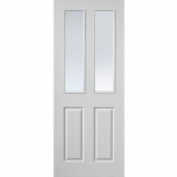 JB Kind Internal White Primed Grained Canterbury 2 Light Glazed Fire Door