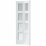 JB Kind Internal White Primed Cayman Shaker Clear Glazed Bi-Fold Door