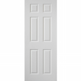 JB Kind Internal White Primed Grained Colonist Panelled Fire Door