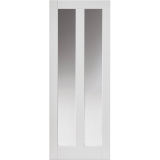 JB Kind Internal White Primed Dominica 2 Light Clear Glazed Door