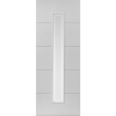 JB Kind Internal White Primed DOMINION 1 Light Etched Glazed Door
