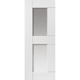 JB Kind Internal White Primed Eccentro 2 Light Clear Glazed Door