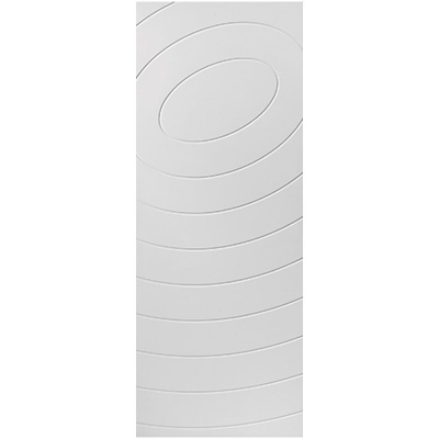 JB Kind Internal White Primed ECLIPSE Spiral Grooved Flush Fire Door FD30