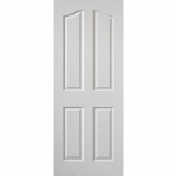 JB Kind Internal White Primed Grained Edwardian Panelled Fire Door
