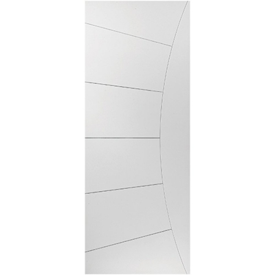 JB Kind Internal White Primed ELEKTRA Feature Grooved Flush Door