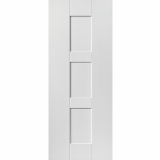 JB Kind Internal White Primed GEO Shaker 3 Panel Fire Door FD30