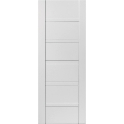 JB Kind Internal White Primed IMPERIAL Horizontal Line Grooved Fire Door FD30
