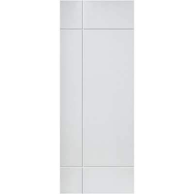 JB Kind Internal White Primed LYRIC Feature Grooved Flush Fire Door FD30