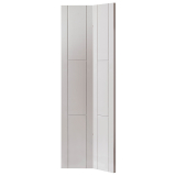 JB Kind Internal White Primed Mistral Grooved Flush Bi-Fold Door