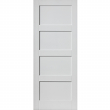 JB Kind Internal White Primed MONTSERRAT 4 Panel Fire Door FD30