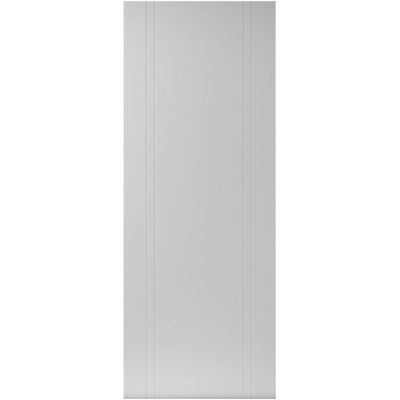 JB Kind Internal White Primed NOVELLO Vertical Grooved Flush Door