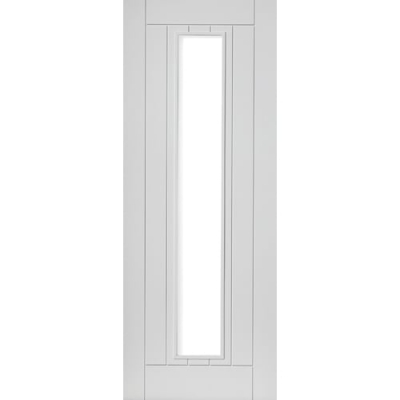 JB Kind Internal White Primed PHOENIX 1 Light Clear Glazed Door