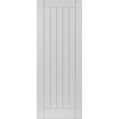 JB Kind Internal White Primed SAVOY Grooved Vertical Panel Fire Door FD30