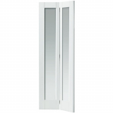 Internal White Primed Tobago Shaker Clear Glazed Bi-Fold Door