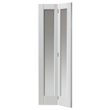 JB Kind Internal White Primed Tobago Shaker Clear Glazed Bi-Fold Door