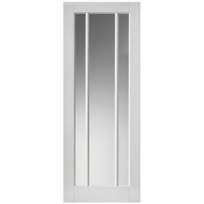 JB Kind Internal White Primed TRINIDAD 3 Light Clear Glazed Door