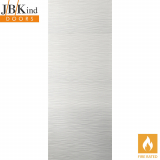 Internal White Primed RIPPLE Moulded Textured Fire Door FD30
