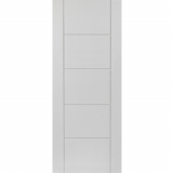 JB Kind Internal White Primed TIGRIS Pre-Finished Grooved Flush Door