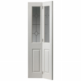 JB Kind Internal White Primed Grained Canterbury Glazed Bi-Fold Door