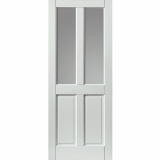 JB Kind External White Colonial Medite Tricoya Extreme Pre-finished Double Glazed Door
