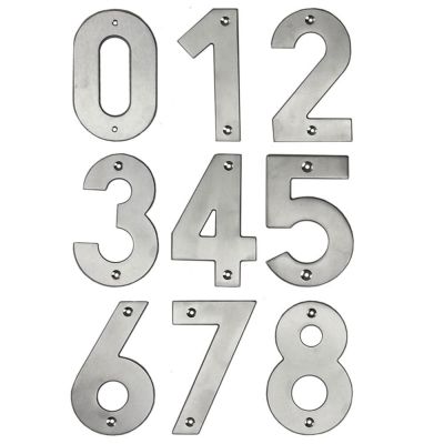 Jedo Contemporary Grade 304 Stainless Steel Large Front Door Numbers 0-9 (100mm)