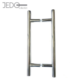Jedo GUARDSMAN PAIR  T Bar Door Pull Handle Grade 304 Stainless Steel 25mm x 1000mm (Back to Back)