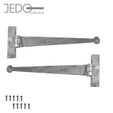 Jedo Pair of Pewter Hand Forged Iron Tee Hinges