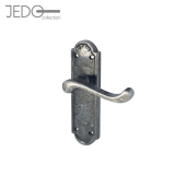 Jedo Turnberry Pewter Antique Lever on Backplate Door Handle
