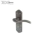 Jedo Wentworth Pewter Antique Lever on Backplate Door Handle