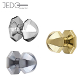 Jedo Pointed Centre Front Door Knob 66mm
