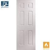 JELD-WEN Arlington White Primed 6 Panelled Interior FD30 Fire Door