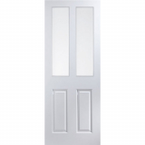 JELD-WEN Atherton White Primed 2 Clear Glazed Interior Door