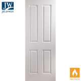 JELD-WEN Atherton Undercoated 4 Panel Interior FD30 Fire Door