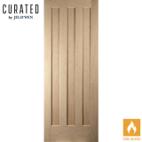JELD-WEN Curated Oak Interior Oregon Aston 3 Panel Fire Door