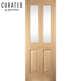 JELD-WEN Curated Oak Interior Oregon 2 Light Clear Glazed Door