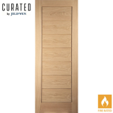 JELD-WEN Curated Oak Interior Oregon Cottage Horizontal Flush Fire Door
