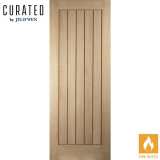JELD-WEN Curated Oak Interior Oregon Cottage Flush 35mm Fire Door