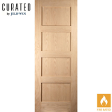 JELD-WEN Curated Oak Interior Oregon Shaker 4 Panel Fire Door
