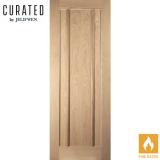 JELD-WEN Curated Oak Interior Oregon Worcester Panel Fire Door