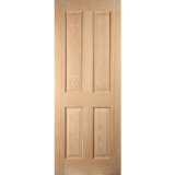 JELD-WEN Curated Oregon White Oak 4 Panelled Interior 35mm 30 Minute Fire Door