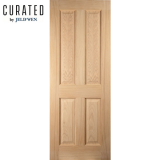 JELD-WEN Curated Oregon Internal White Oak 4 Panel Door