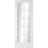 JELD-WEN Curated Simplicity White Primed Interior Shaker 10 Light Clear Glazed Door