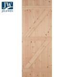JELD-WEN Redwood Boarded Ledged and Braced External Door