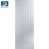 JELD-WEN Newark White Primed 5 Panel Interior Door