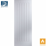 JELD-WEN Newark White Primed 5 Panel Interior FD30 Fire Door
